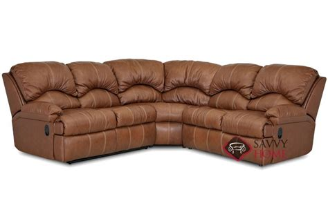 3 piece sectional sleeper sofa milan leather true sectional by savvy is fully