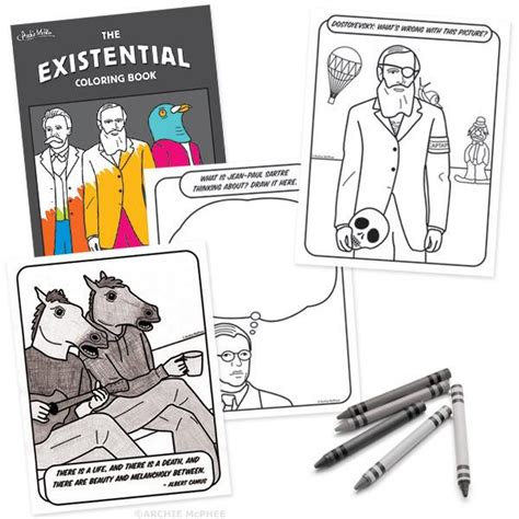 coloring books for existential angst existential coloring book archie mcphee co