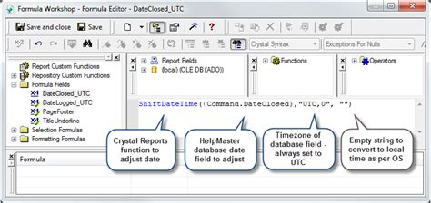 utc format converter crystal reports convert datetime to date