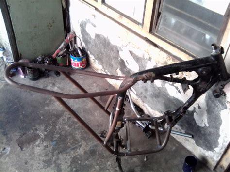 Frame Rangka Honda Dax beginilah bentuk setengah jadi rangka honda tiger scrambler honda xl125 replica
