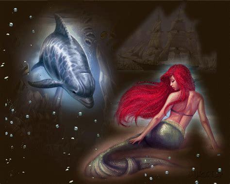 imagenes bellas sirenas delfin y sirena
