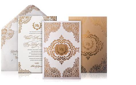 Lerie And Roy Luxury  Ee  Wedding Ee    Ee  Invitations Ee   Custom