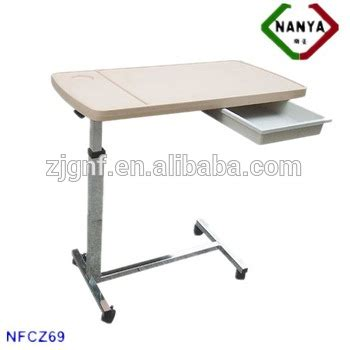 hospital bed tables adjustable nfcz69 height adjustable hospital bed table with drawer