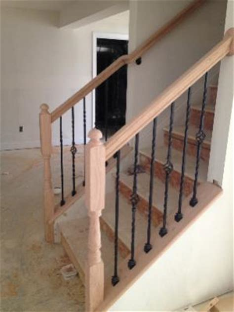 Modern Banister Ideas Basement Hand Railing Half Open Wall Doityourself Com
