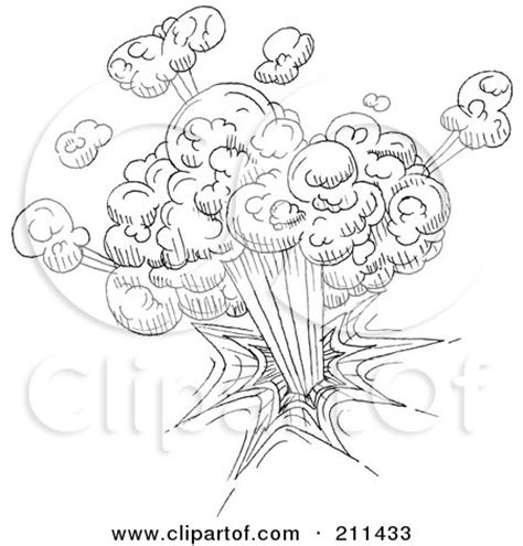 doodle tnt royalty free rf clipart illustration of a black and