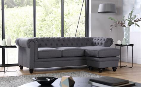 corner chesterfield sofas hton slate fabric chesterfield corner sofa l shape only