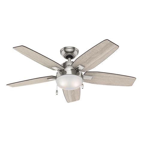 Hunter Antero 46 In Led Indoor Brushed Nickel Ceiling Fan Light Fixtures With Fans