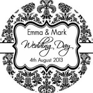 Diy Invitation Kits Elegant Damask Personalised Wedding Stickers Wedding Favour Stickers Wedding Favours Cheap