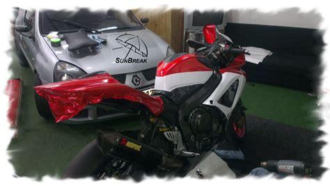Motorrad Teile Mit Folie Bekleben by Car Wrapping Auch Fuers Motorrad Sunbreak