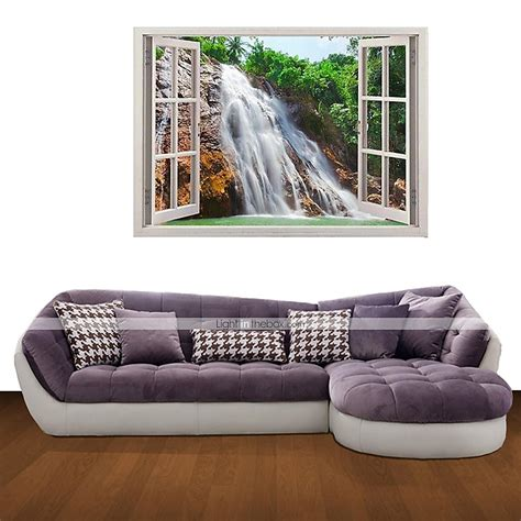 3d wall stickers wall decals waterfall home decor vinyl