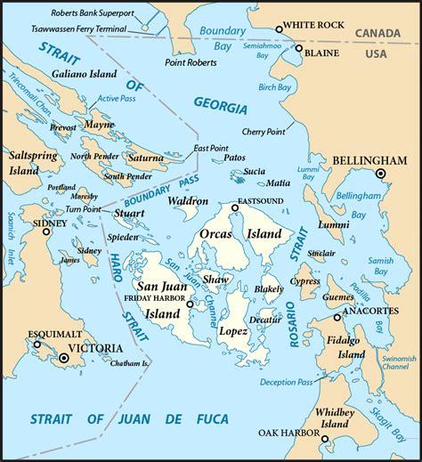 seattle islands map san juan islands
