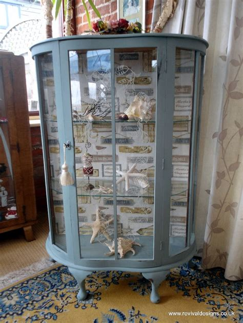Kitchen Cabinet Refurbishment by Vintage Glass Display Cabinet Antique Harbour Fabric
