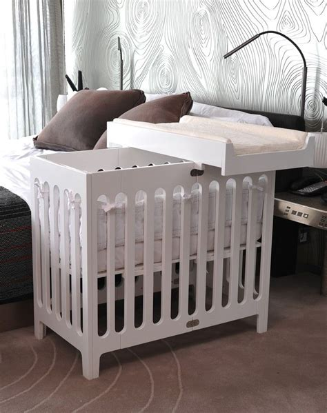 Mini Cribs Bloom Alma Mini Co Sleeper Bassinet With Extended As A Mini Crib Folds When Not In Use