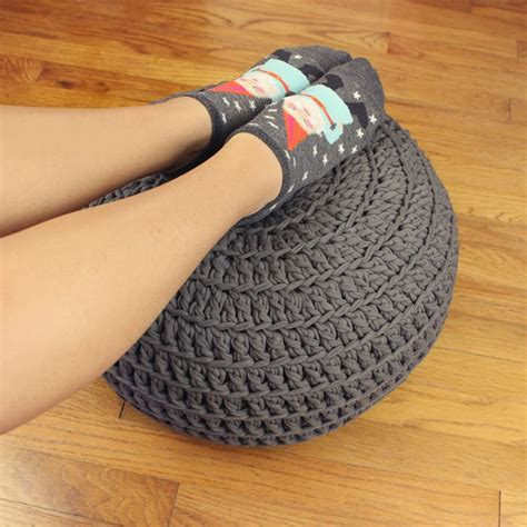 t shirt yarn cushion pattern free crochet pattern poof floor pillow pouf ottoman by