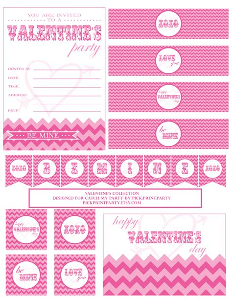 free printable valentine party decorations free valentine s day party printables from pick print
