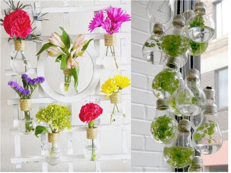 imagenes de jardines con reciclado 10 ideas de decoraci 243 n con bombillas recicladas