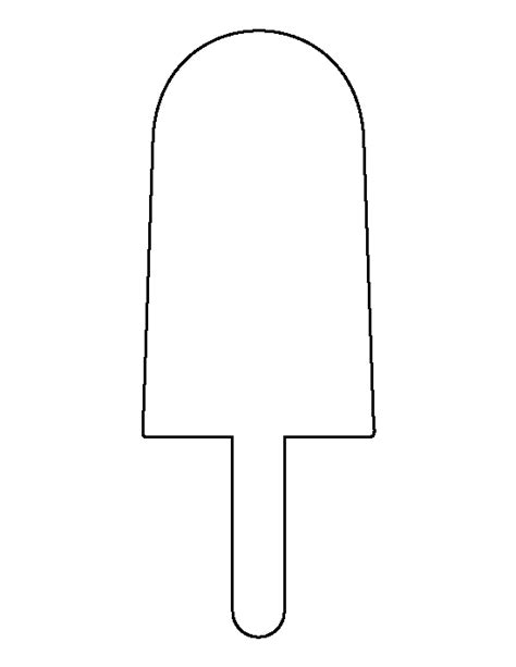 popsicle template free coloring pages of popsicle