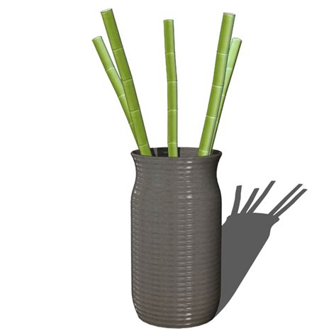 Bamboo Sticks In Vase by Decorative Bamboo In Vases 3d Model Formfonts 3d Models