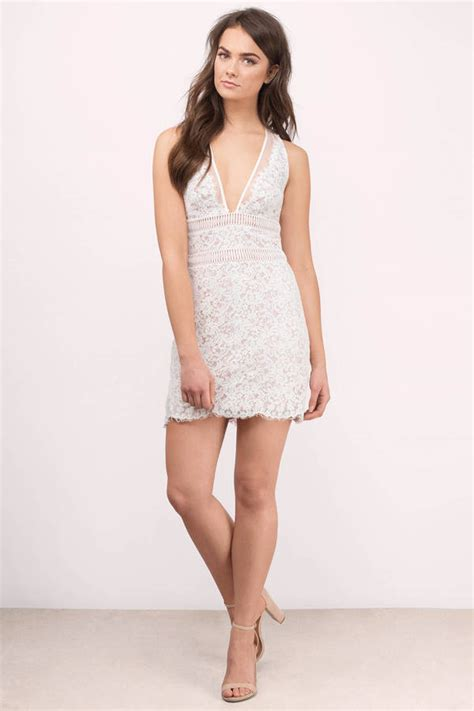Mini Dress White Nerima white bodycon dress white dress plunging v dress 129 00