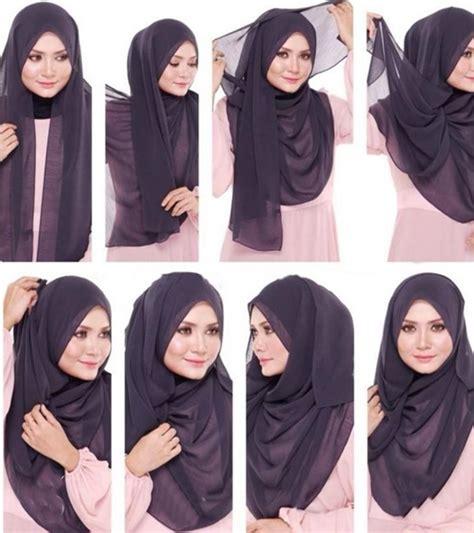 tutorial hijab untuk pesta simpel tutorial cara memakai hijab pashmina simpel modelbusana