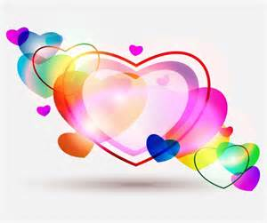 colorful hearts abstract colorful hearts for valentines day free vector