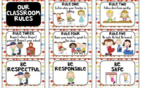 printable school rules poster classroom rules posters printables images