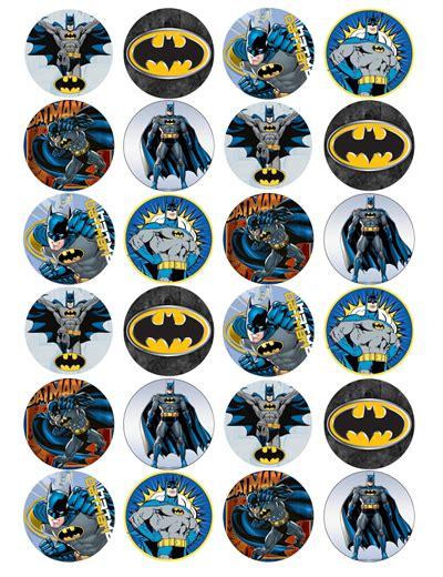 Topper Batman I batman edible cupcake toppers viparty