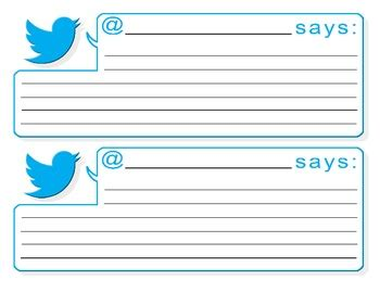 twitter feed template by canadian teacher lady tpt