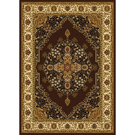 Home Dynamix Royalty Rug by Home Dynamix Royalty Brown Ivory 3 Ft 7 In X 5 Ft 2 In