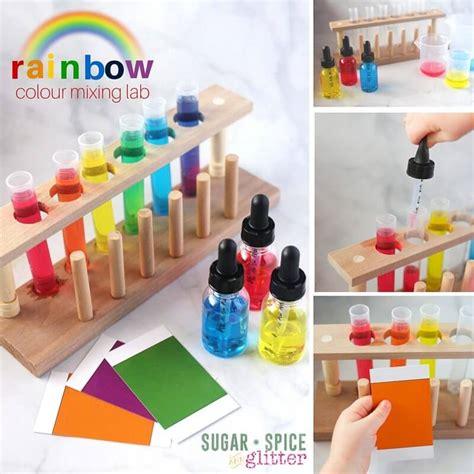 Scientific Spice Rack Rainbow Colour Mixing Lab Sugar Spice And Glitter