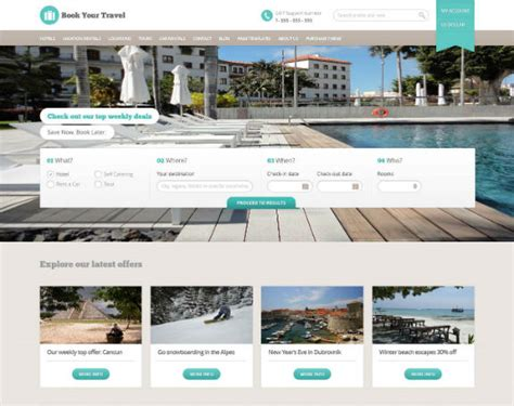 40 Best Travel Wordpress Themes For Online Travel Bookings Booking Website Template Free