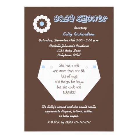 Baby Shower For A Second Baby by Second Baby Boy Shower Invitation Zazzle