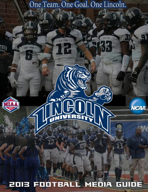 lincoln blue tigers football issuu 2013 lincoln football guide by lincoln