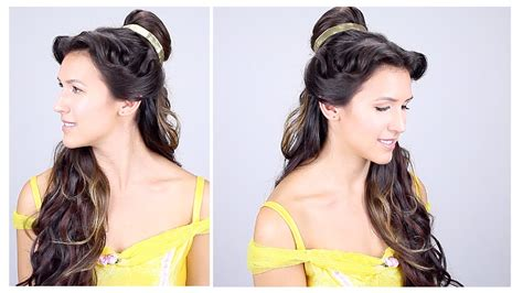 Where Do You Put Your Makeup On by Belle Disney Princess Hair Tutorial Youtube