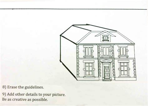 one point perspective house the helpful art teacher perspective drawing 101 drawing a house and a
