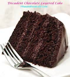 kuchen mit schokoguss layered chocolate cake and food cafe