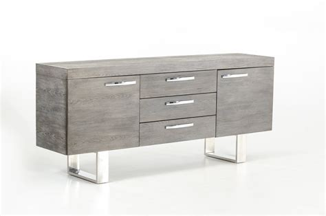 Grey Wood Buffet with Doors and Drawers Jacksonville