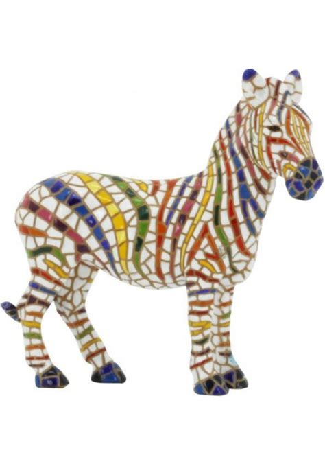 Barcino Mosaic Zebra Figurine from the Nature Collection