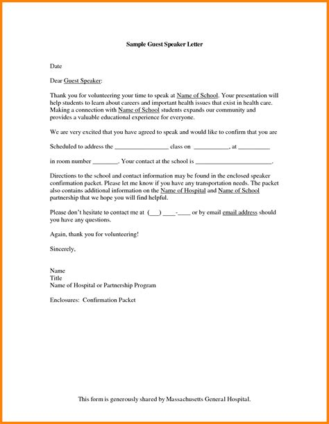 Writing Guest Speaker Invitation Letter How To Write A Formal Invitation Letter For Guest Speaker Cover Letter Templates