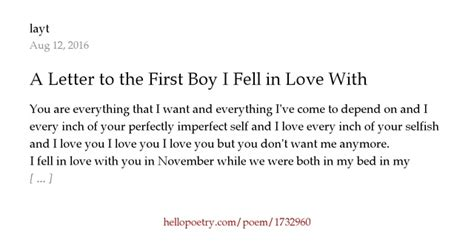 A Letter To The I Fell In With a letter to the boy i fell in with by layt