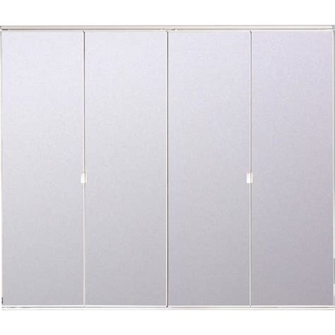 Bifold Mirrored Closet Doors Lowes Shop Reliabilt 24 In X 6 Ft 8 In Clear Mirror Bifold Door At Lowes