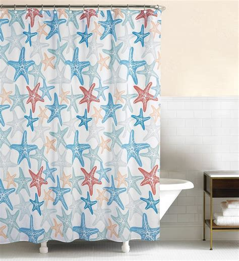 starfish shower curtain kalani starfish beach shower curtain