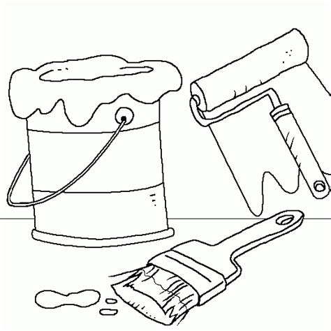 Free Coloring Pages Of Paint Can Paint Coloring Pages