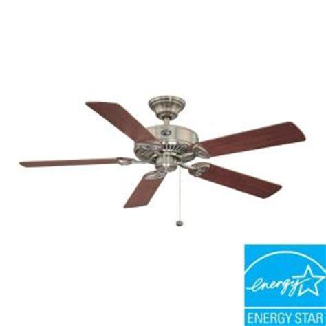 52 farmington ceiling fan hton bay farmington 52 in brushed nickel ceiling fan