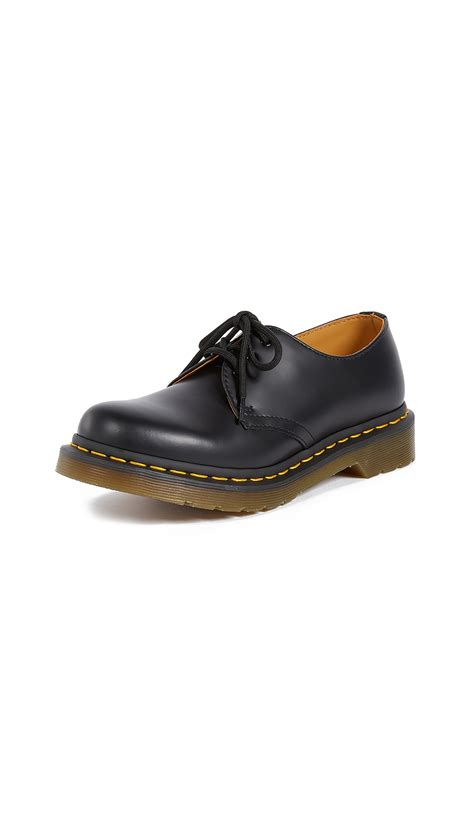 Dr Martens 1461 Black 3 dr martens 1461 3 eye leather shoes black modesens