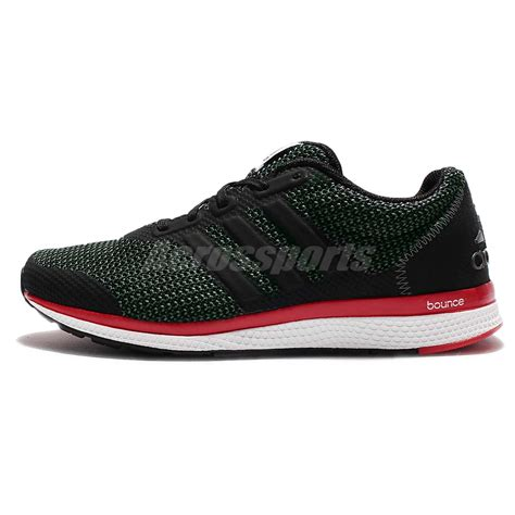 adidas bounce black adidas lightster bounce m black red mens running shoes