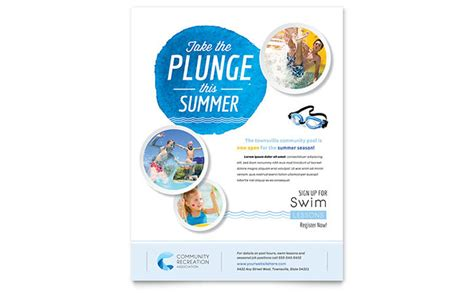 Swimming Flyer Templates Free