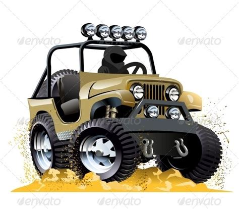 cartoon jeep cartoon jeep buses adobe and train illustration