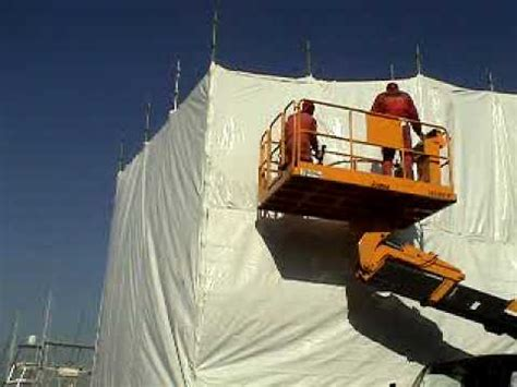 boat paint booth dr shrink boat paint booth yasuda shipyard japan youtube