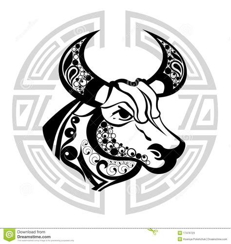 taurus zodiac sign tattoo design zodiac signs taurus design editorial stock